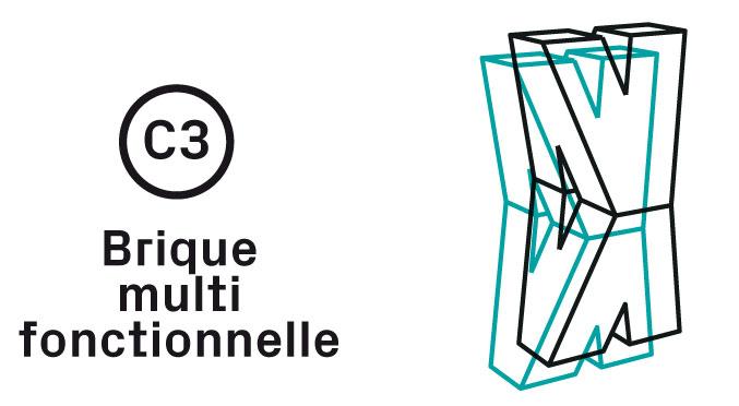Brique multifonctionnelle Impression 3D