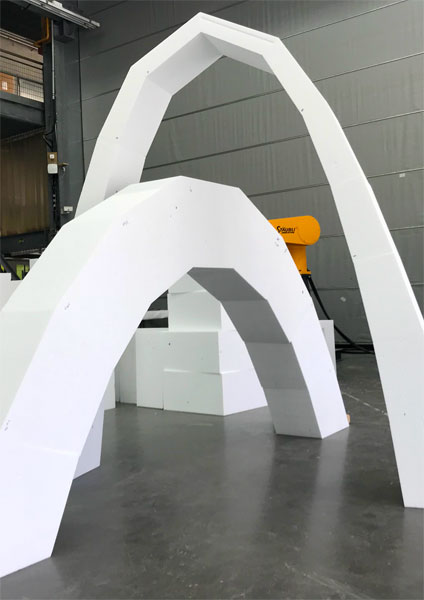 Arche funiculaire fabrication robotisée